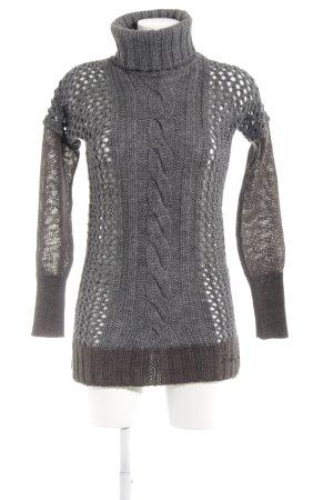 Replay Pull tricoté gris-marron clair style décontracté