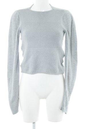 Replay Jersey de punto gris claro punto trenzado estilo sencillo