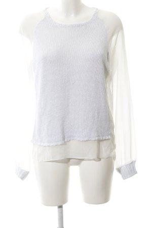 Replay Pull tricoté blanc-bleu azur style décontracté