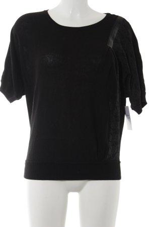 Replay Camisa tejida negro-gris antracita estampado floral estilo sencillo
