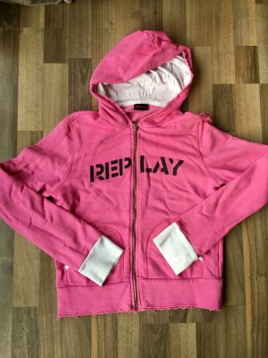 Replay Sweatjacke Pink Used Look