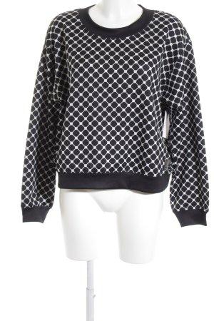 Replay Sweatshirt schwarz-weiß abstraktes Muster Casual-Look