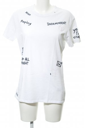 Replay T-shirt motivo floreale stile casual