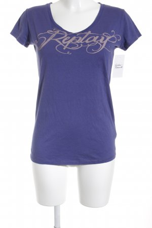 Replay T-Shirt dunkelviolett Casual-Look