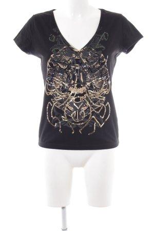 Replay T-shirt nero-oro modello misto stile casual
