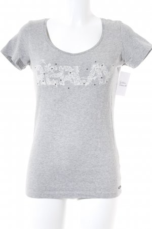 Replay T-Shirt grau Casual-Look