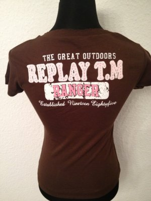 Replay T-Shirt in Braun