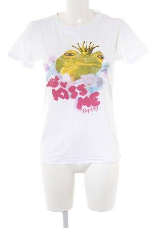 Replay T-Shirt Motivdruck Casual-Look