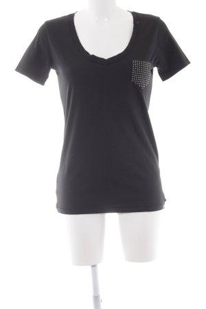 Replay T-Shirt schwarz schlichter Stil
