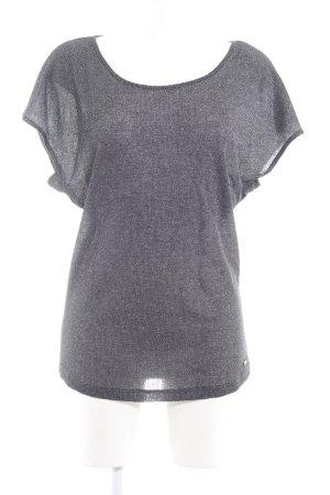 Replay T-Shirt schwarz-silberfarben meliert Casual-Look