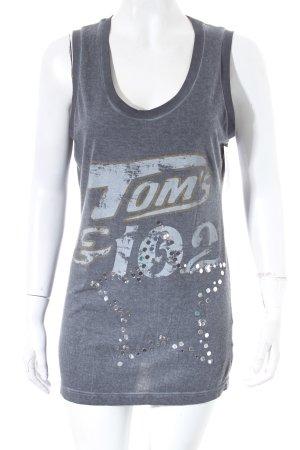 Replay Tanktop grau Schriftzug gedruckt Street-Fashion-Look