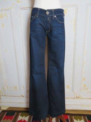 Replay Teena Blue Jeans Gr. 27 dunkelblau blau W27 L32 Denim 34 36 XS S flared Jeans