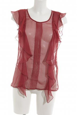 Replay Blusa transparente carmín look casual