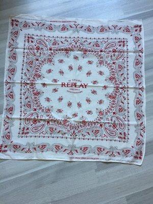 Replay Halsdoek wit-rood
