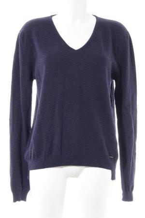 Replay V-Ausschnitt-Pullover blau Casual-Look