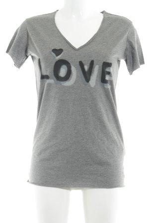 Replay T-shirt col en V multicolore style décontracté