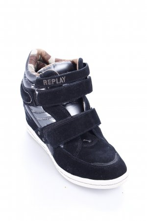 Replay Wedge Sneaker schwarz Street-Fashion-Look