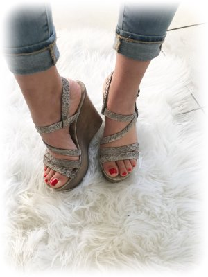Replay Wedge Sandals multicolored