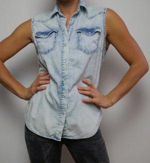 Replay Denim Vest multicolored cotton