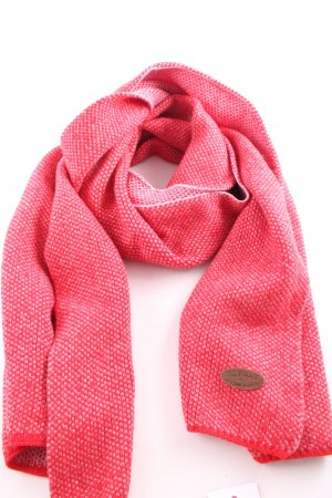 Replay Woolen Scarf red-pink graphic pattern casual look