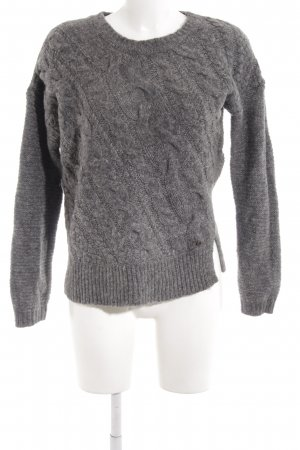 Replay Zopfpullover grau Zopfmuster Casual-Look