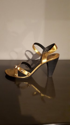 Replay High Heel Sandal gold-colored leather