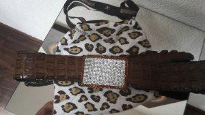 Leather Belt dark brown leather