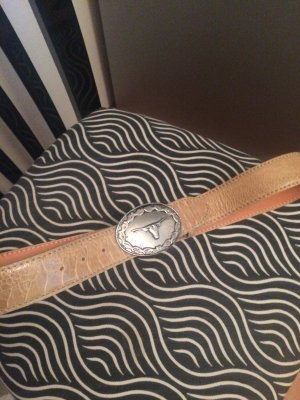 Reptile's House Leather Belt sand brown-camel leather