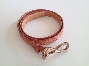 Reptile's House Cintura di pelle arancione chiaro