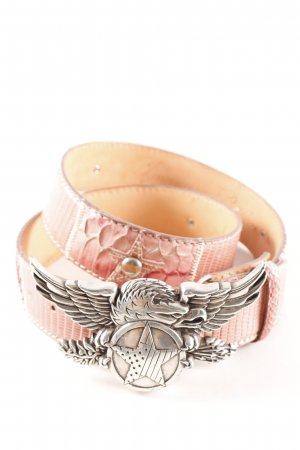 Reptile's House Hip Belt pink-silver-colored street-fashion look