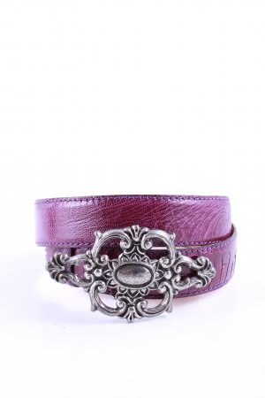 Reptile's House Leather Belt lilac animal pattern elegant