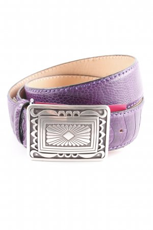 Reptile's House Leather Belt dark violet-black extravagant style