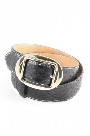 Reptile's House Leather Belt black animal pattern extravagant style