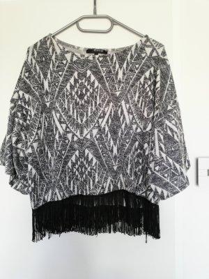 Reserved Camisa tejida blanco-gris