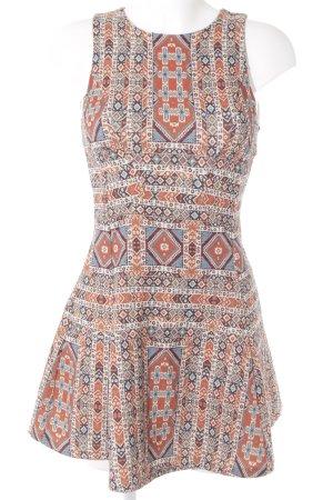 Reserved A-Linien Kleid Aztekenmuster Casual-Look