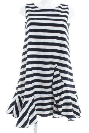 Reserved A-Linien Kleid dunkelblau-weiß Streifenmuster Casual-Look