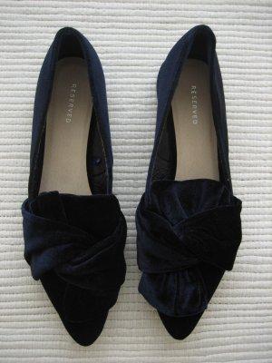 reserved balerinas neuwerig samt dunkelblau gr. 38