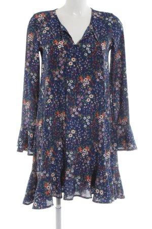 Reserved Blusenkleid blau Blumenmuster Elegant