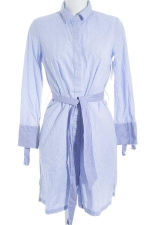 Reserved Blusenkleid weiß-himmelblau Streifenmuster Elegant