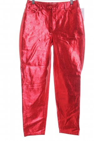 Reserved Boyfriendhose rot Glitzer-Optik