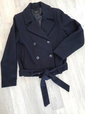 RESERVED Caban-Jacke/Woll-Jacke, dunkelblau, Gr.36, mit Gürtel
