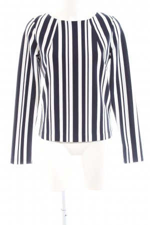 Reserved Giacca doppia bianco-nero motivo a righe stile casual