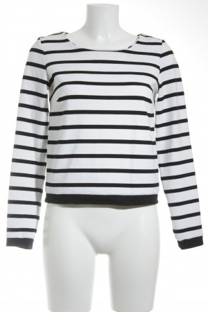Reserved Fine Knitted Cardigan white-black striped pattern casual look