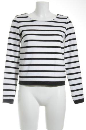 Reserved Feinstrickpullunder weiß-schwarz Streifenmuster Casual-Look