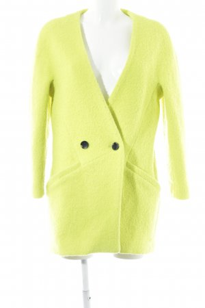 Reserved Cappotto in pile giallo lime stile casual