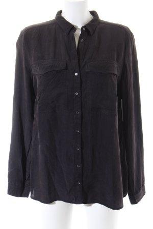 Reserved Hemd-Bluse schwarz Biker-Look