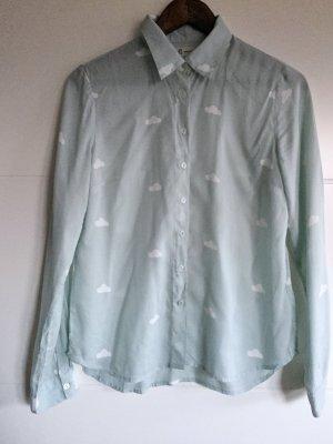 Reserved Hemd hellblau mit Wolken