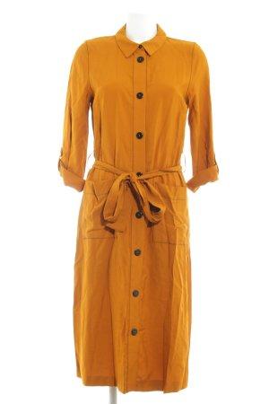 Reserved Robe chemise orange foncé Motif de tissage style décontracté