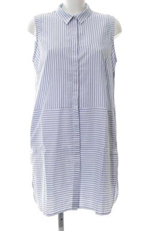 Reserved Vestido tipo blusón azul-blanco estilo «business»