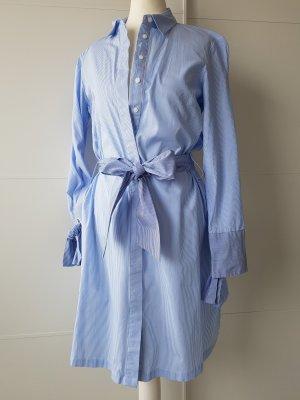 RESERVED Hemdblusenkleid, gestreift, blau/weiß, Gr.36